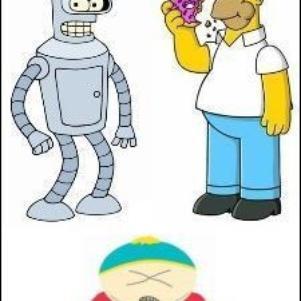Bender Homer Cartman