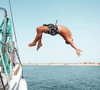springen und schwimmen