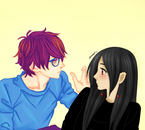 Cadeau de ma Nats qui a fait Natsume et Shishio c: