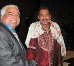 SINGER AND ARTIST SHAKEHAND WITH NAGPAL IN PARIS I. EMBASSY