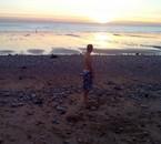 Coucher de soleil sur une plage du Havre-2-10-2016