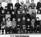 6ème M2 Collège B Pascal à Mazingarbe en 1967