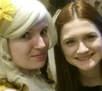 Bonnie WRIGHT (Ginny WEASLEY dans Harry POTTER) et moi