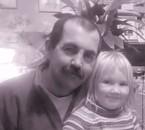 mon beau-frére roro (décédé) et ma petite niéce.