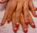 """pose complète gel french couleur avec les produits """" all season nails """" ."""