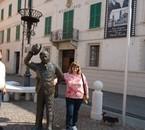 moi à Brescello (Italie)