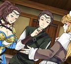 Angel, Aiolos et un serveuse de restauration