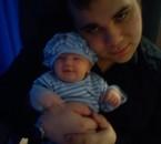 moi et ma princesse ma fille le demain de sa naissance