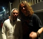 Moi avec Jaska (Batteur de Children Of Bodom :D) (l)