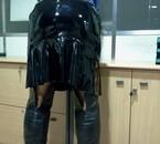 jupe vinyl noirr