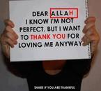 Thanks you Allah
