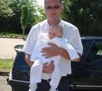 ESTEBAN ET SON PAPA AU BAPTEME 2010
