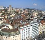 La vue depuis le haut de la tour