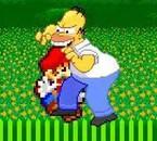 Homer bouffe la casquette de Mario