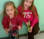 Mes deux petite princesses. Je vous aime grave