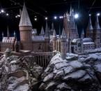 Poudlard sous la neige aux studios Harry Potter à Londres