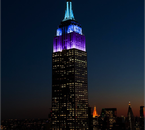 L'Empire State Building aux couleurs de Lumos le 09/04/15