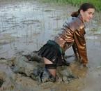 ma tenue n'est pas idéale pour les bains de boue !