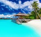 Plage de Bora Bora.