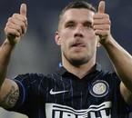 Lukas Podolski à l'Inter Milan