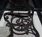 Reste d'un banc qui se trouvait sur le pont du Titanic
