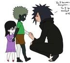 """""""dessine un moment de l'enfance de Zetsu et Jun"""" fait o/"""