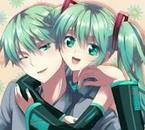miku et son frère ^^