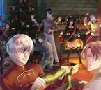 Castiel, Kentin, Armin, Chloé, Alexy, Lysandre et Nathaniel