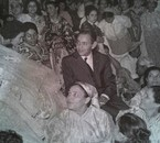 King Hassan II on his wedding day