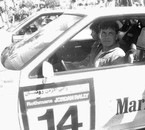 Prince Abdullah in an jordan rally car