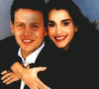 Prince Abdullah and his wife princess Rania, in 1996