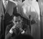 King Hassan II in a press conference