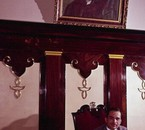 King Hussein in his office