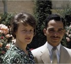 Princess Muna and king Hussein