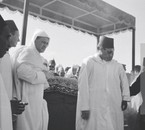 King Hassan II on the day of his father funerals