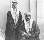 King Abdullah I and his son crown prince Talal