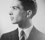 Profil portrait of king Hussein