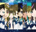 Charlène, Tressia, Aisu, moi, Aki, Tyjii, __, à peu près Oka