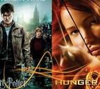 Voici une photo de Hunger Games et de Harry Potter