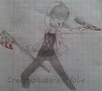 Moi en attaque + la folie ~ (dessin inspiré d'une image)