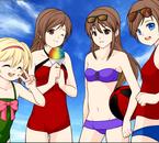 ~ Moi,Emma, Aymeline (Mauve) & Justine (Rouge/Noir) ~