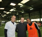 Moi et les joueurs de football et autographes
