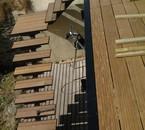 escalier car tournant strucuture métalique et marche en bois