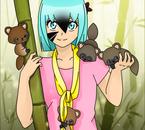 Senyiu avec de Tanukis **