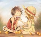 Luffy et Nami petit