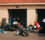 Ferrari garage at Monza in 1971