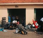 Ferrari garage at Monza in 1971