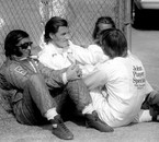 Emerson Fittipaldi, Graham Hill and Ronnie Peterson, '74 IRO
