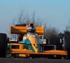 Mika testing 1989 Lotus-Judd V8, at Silverstone. Pre-Season,