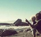 Wyatt et Eric à la plage ! Ils sont pas trop beau?! <3